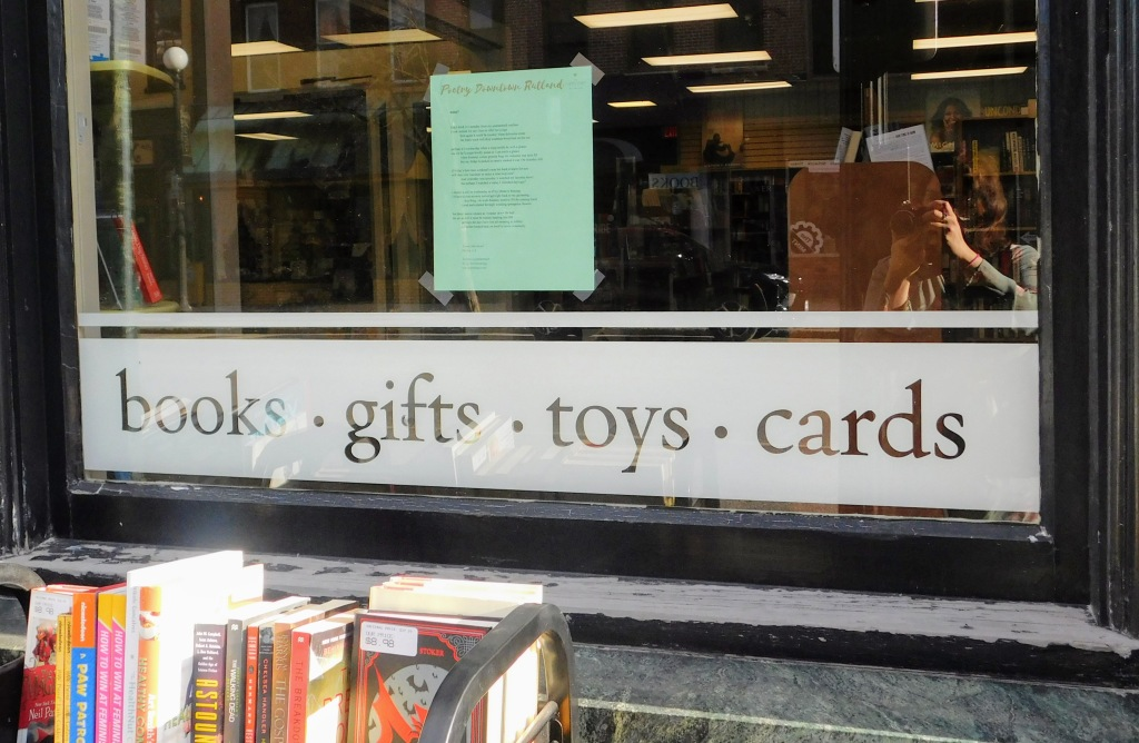 Poetry in a window (photo credit: Bianca Zanella, poetry copyright James Morehead)